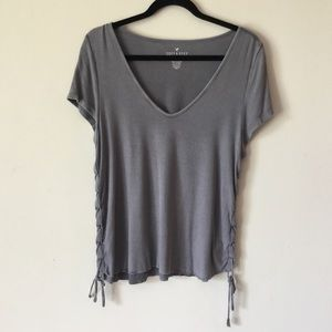 American Eagle Soft & Sexy Ribbed Vneck T-Shirt